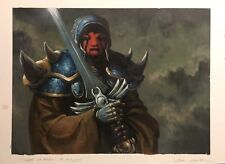 MTG Tivadar of Thorn Original Art Painting Carl Critchlow Magic: The Gathering