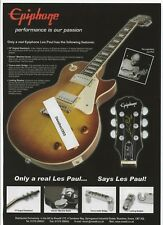 2007 Print advert for EPIPHONE LES PAUL GUITARS + 3 other ads on the reverse.