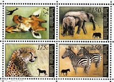 African Animals set of 4 stamps mnh 2008 Netherlands Antilles zebra giraffe