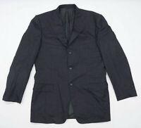 Ermenegildo Zegna Mens Wool Black Suit Jacket 42 Chest (Regular)