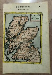 SCOTLAND 1683 ALAIN MANESSON MALLET ANTIQUE MAP IN COLORS 17TH CENTURY
