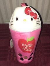 Sanrio Hello Kitty Apple Smoothie Plush Pencil Pouch Makeup Case New