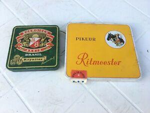 2 BOITES VIDE CIGARES CIGARILLOS PIKEUR RITMEESTER & SUERDIECK BAHIA EMPTY BOX