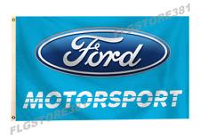 Ford Motorsport Flag Banner 3x5ft Man Cave Garage Wall Decor Racing Car