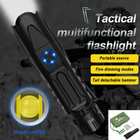 5 Mode XHP90.2 Powerful LED Tactical Flashlight 50000lm Camping Lantern Torch