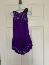 Girl - Purple Beaded Figure Skating Dress
