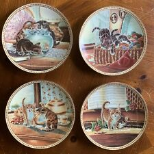 Knowles Complete Set of 4 Pussyfooting Around 1991 Collector Plates