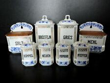 Alte Porzellan Vorratsdosen, Vorratsbehälter, Gewürzbehälter, Gewürzdosen