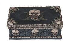 """5.75"""" Skull on Top of Trinket Box Santa Muerte Holy Death Grim Reaper Halloween"""