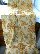 Heavyweight Cream&Rust Tapestry Woven Curtain Triple French Pleat with Hooks