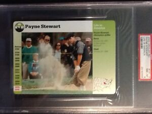 PSA 8 NM-MINT  Life In America  Payne Stewart   Grolier  Card #131-6  Dated 2000