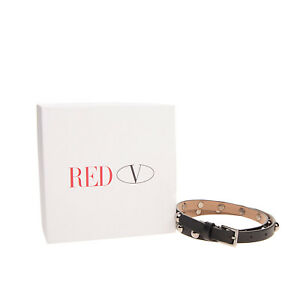 RRP €340 RED VALENTINO Leather Waist Belt Size 80/32 Round Studded Made in Italy