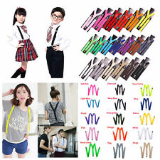 17 Colors Mens Womens NEW Y-Shape Clip-on Suspenders Adjustable Elastic Braces