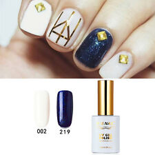 2X RS Nail UV Gel Nail Polish LED Soak Off Varnish Beauty Salon White Blue 15ml