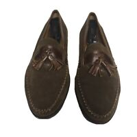 Bruno Magli Men's Suede Loafer Size 10.5 Made Italy Slip-on Leather Accent