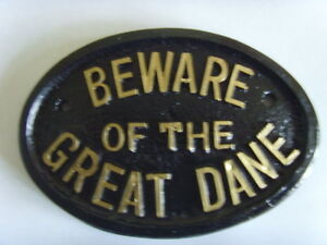 BEWARE GREAT DANE  HOUSE SIGN BUSINESS OFFICE PLAQUE