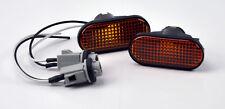 Honda Civic S2000 Integra JDM Side Marker Repeater Lights Amber Black Fender