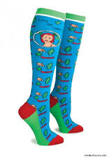 New Anne Taintor KNEE HIGH SOCKS Retro Humor Fun Gift - I LOVE NOT CAMPING