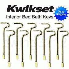 KWIKSET EMERGENCY KEY 1, 5, or 10 BED BATH INTERIOR DOOR KEYS SKELETON LOCKSET