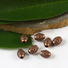 35pcs copper-tone eye oval spacer beads H2251