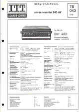 ITT/Graetz Service Manual für stereo-recorder 740 AV