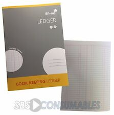 Silvine Double Entry Ledger. 32 Page Accounts Book. Yellow Book Keeping Pad. A4.