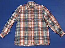 Follie sport camicia flanella M usata manica lunga quadri uomo invernale T2191