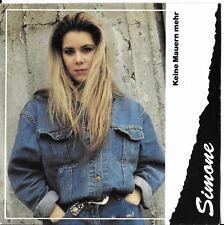 "Simone ""Keine mauern mehr/No walls.."" Eurovision Austria 1990 Austrian pressing"