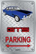 Parking Sign - Metal - HOLDEN HQ - GTS 4 DOOR - PURPLE - WELD WHEELS