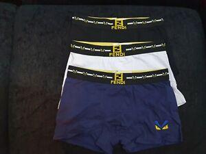 Mens 3 Pieces Luxury Boxer Short Size S