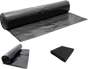 Heavy Duty Black Polythene Sheet - DPM/DPC 300 mu - 1200 Gauge - Cut to size X 4
