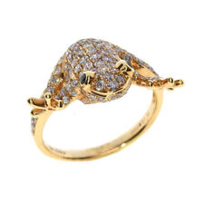 Real 1.40ct Natural Fancy Pink Diamonds Engagement Ring 18K Solid Gold 6G Frog