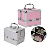 Womens Vanity Case Beauty Box Make up Cosmetic Nail Storage Travel