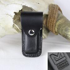 Messertasche Holster Messer Taschenmesser Schwarz Echt Leder für kleine Messer