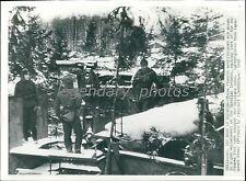 1940 World War II Finnish Men in Nest of Defense Original Wirephoto