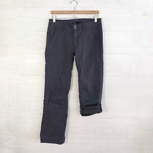 Prana - Gray soft stretch roll tab hiking pants, sz 8