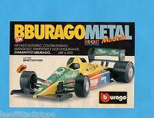 TOP990-PUBBLICITA'/ADVERTISING-1990- BURAGO - BENETTON FORD 1/24