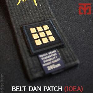 MOOTO Black Belt Dan Patch Set (10EA) Taekwondo Uniform Dobok Judo Karate Kendo