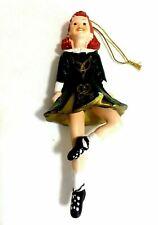 Kurt Adler Irish Girl Dancers Christmas Ornaments - New
