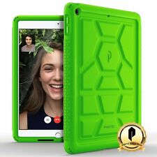 Poetic Apple iPad 9.7 [Turtle Skin] shockproof Case Rugged Silicone Cover Green