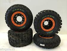 Hiper CF1 Beadlock Rims Maxxis Razr 2 Tires Front/Rear XC SX KTM ATV 450 525 505