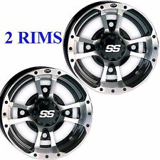 TWO 10x5 4/144 3+2 ITP SS112 Rims Wheels some Kawasaki Suzuki Can Am Arctic Cat