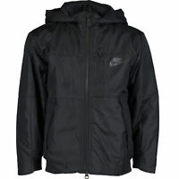 NIKE Kids Boys Black Logo Hooded Jacket, 5-6 years / 110-116 cm