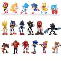6Pcs/Set 7cm Sonic Boom Rare Dr Eggman Shadow action Figures Toy Pvc Toy Sonic