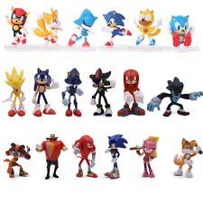 6Pcs/Set 7cm Sonic Boom Rare Dr Eggman Shadow action Figures Toy Pvc Toy Sonic