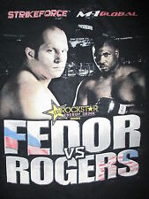 FEDOR vs ROGERS STRIKEFORCE T SHIRT vtg Original MMA M-1 GLOBAL Emelianenko LG