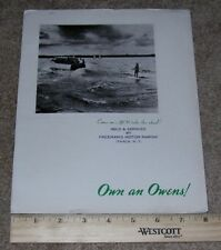 OWENS 30 Deluxe Sedan Sport Fisherman Etc. Boat Dealer Sales Brochure Catalog