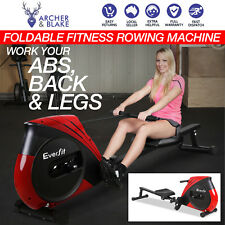 Foldable Fitness Rowing Machine Tone Abs Back Leg Exercise Rower Home Gym NEW