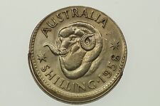 1958 Shilling Variety Error Mis-Strike in Uncirculated Condition
