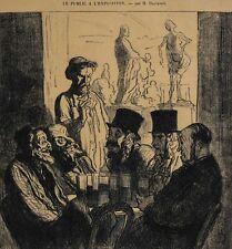 Honore Daumier France 1808 -1879 Lithograph Le Public a L'exposition